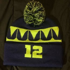 Seahawks blue and green 12 beanie / hat